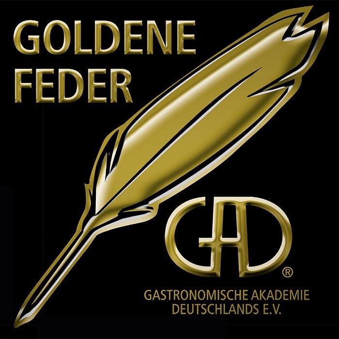 Aufkleber Goldene Feder